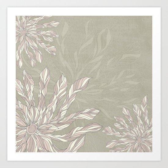 Flower Power Earthtones Art Print