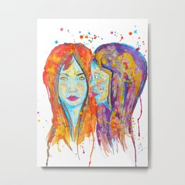 chantal et miriam Metal Print