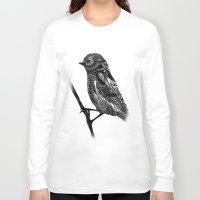 ornate Long Sleeve T-shirts featuring Ornate Bird by ZantosDesign