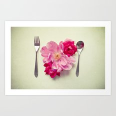 You Are What You Eat - White Art Print