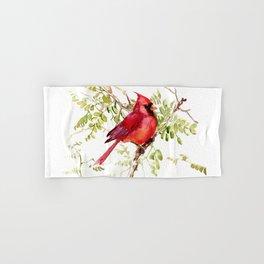 Northern Cardinal, cardinal bird lover gift Hand & Bath Towel