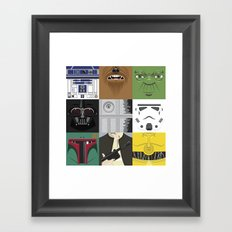 Starwars combo Framed Art Print