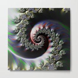 Cool Wet Paint Fractal Swirl of RGB Primary Colors Metal Print