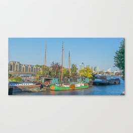 Boats on the Thames Canvas Print