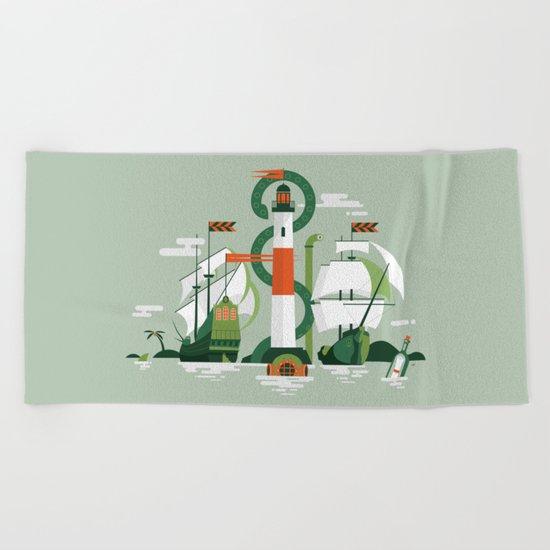 Sea of Adventure Beach Towel