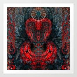 Seen Through Flames and Ashes Art Print