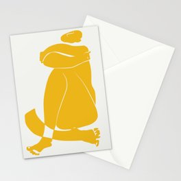 Giant yellow nude Stationery Cards