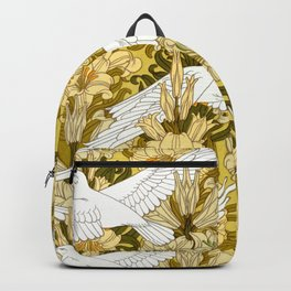 Doves and lilies Backpack