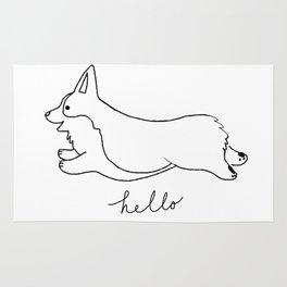 Pembroke Welsh Corgi - Hello Rug