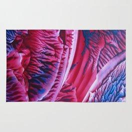 Abstract Cobalt Violet Red Rug