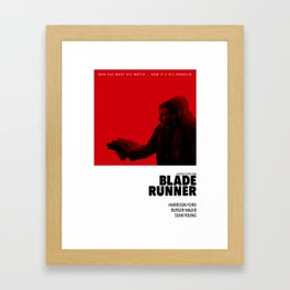 Bladerunner Tribute Poster Framed Art Print