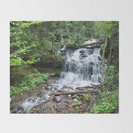 Wagner Falls, Munising, Michigan Throw Blanket