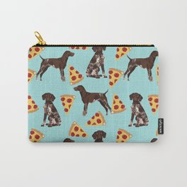 German Shorthair Pointer dog breed pet art pizza slices pattern design by pet friendly dog lovers Carry-All Pouch