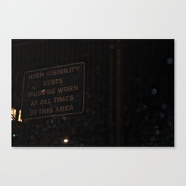 Low visibility Canvas Print