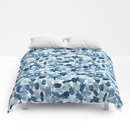 Blue Abstract Watercolor Comforters