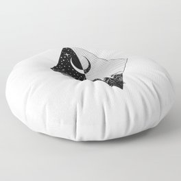THE MOON AND THE FOREST Floor Pillow