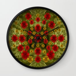 Sun Roses In The Deep Dark Forest Of Fantasy Wall Clock