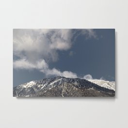 Winter in the San Gabriel Mountains Metal Print