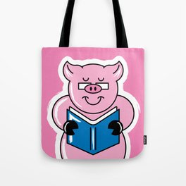 Pig Out On Books! Tote Bag