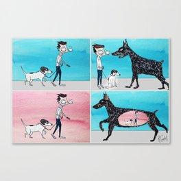 Walking Penny Canvas Print