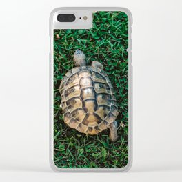 Runaway Turtle Clear iPhone Case