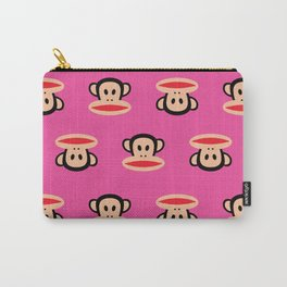 Julius Monkey Pattern by Paul Frank - Pink Carry-All Pouch