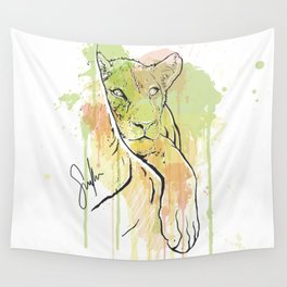 Young Lion Wall Tapestry