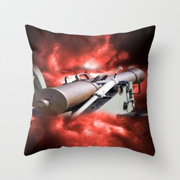 Cannon and bombing Throw Pillow