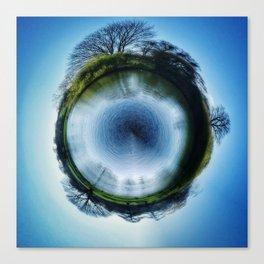 Tiny Planet 2 - The Big Drip Canvas Print