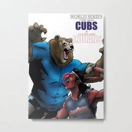 WORLD SERIES: CUBS at INDIANS Metal Print
