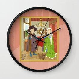 Arnolfini Portrait by Jan Van Eyck Wall Clock