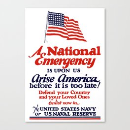 Arise America -- Enlist Now In The United States Navy Canvas Print