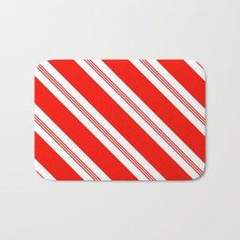Candy Cane Stripes Holiday Pattern Bath Mat