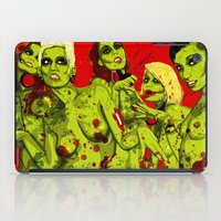 zombies iPad Cases featuring SEXY ZOMBIES by Thomas B.- Rock Artwork
