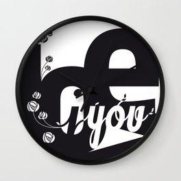 I Love You 3 Wall Clock