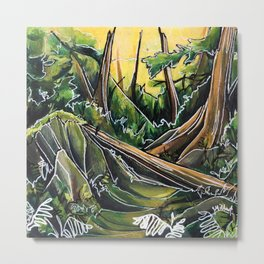 Filtered Forest Metal Print