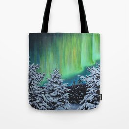 Northern Lights, Algonquin Park Tote Bag