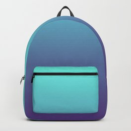 Ultra Violet Teal Ombre Gradient Pattern | Trendy color of the Year 2018 Backpack
