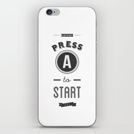 Press A to Start iPhone Skin