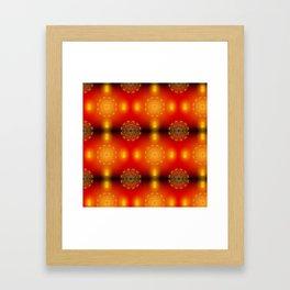 Golden mandala with lantern Framed Art Print