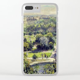 The Tuileries by Claude Monet Clear iPhone Case