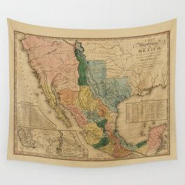 Map of Mexico by Henry Tanner (1846) Wall Tapestry