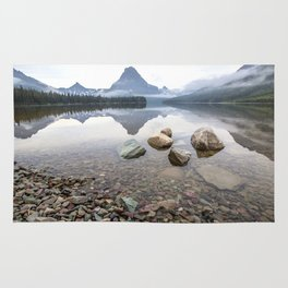 Rocky Lake Mountains Rug