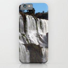 Iguazu Iguassu Waterfall Landscape Panorama Scenery, Brazil Argentina 4 iPhone Case