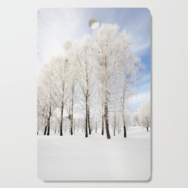 trees in winter Cutting Board