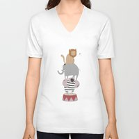 circus V-neck T-shirts featuring Circus by PygmyCloud
