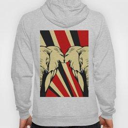 Art print: Elephant pop art Hoody