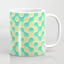 Yellow Deep Sea Green Truchet Tilling Pattern Coffee Mug