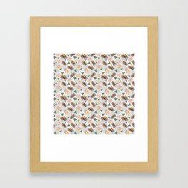 Cone Flowers Framed Art Print