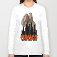 sports Long Sleeve T-shirts featuring CHICAGO SPORTS  by Robleedesigns